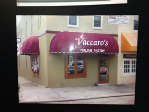 Italian pastry shop commercial awning