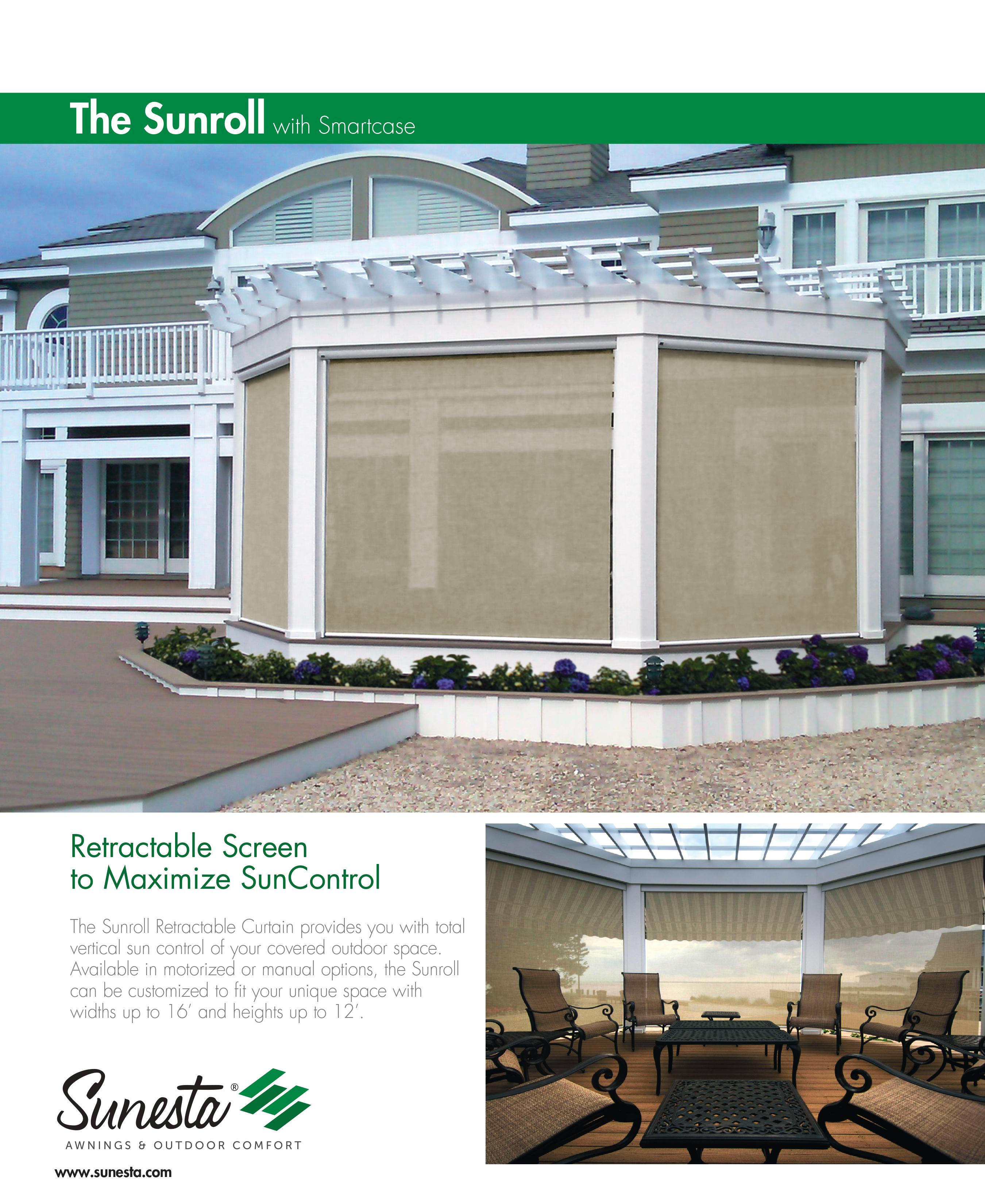 The Sunesta Sunroll Retractable Screen Nh Awningsnh