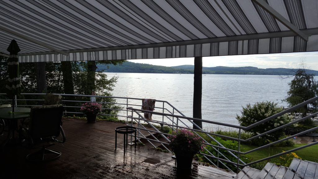 beautiful retractable awning in central nh