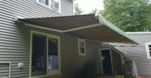 Large shade area created by sunesta motorized retractable awning