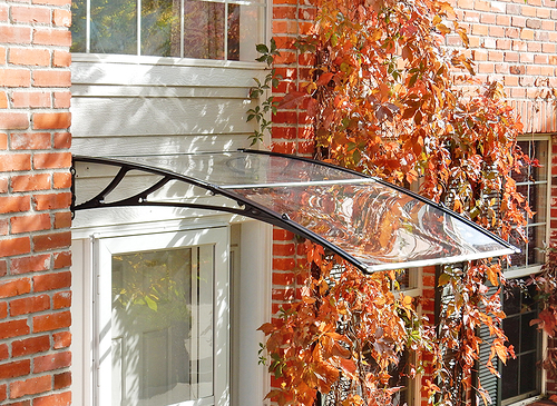 Lite and strong poly canopy awnings are perfect for any doorway