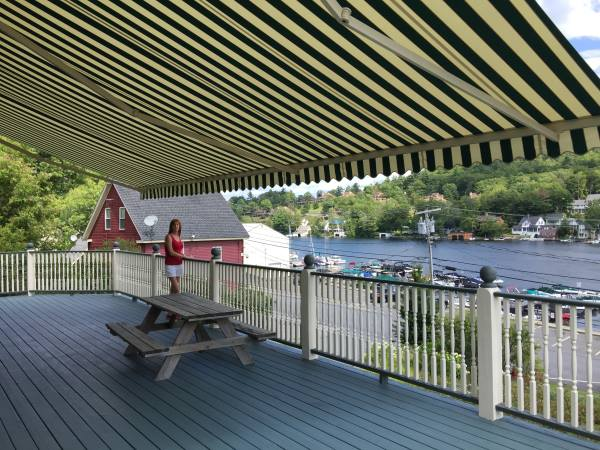 motorized retractable awning installation in Grafton NH