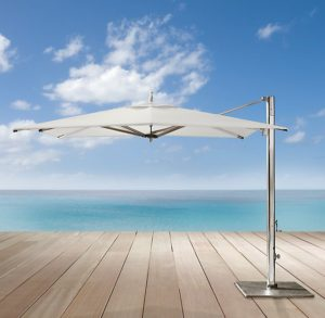 Tucci, cantilever umbrella, stainlees steel