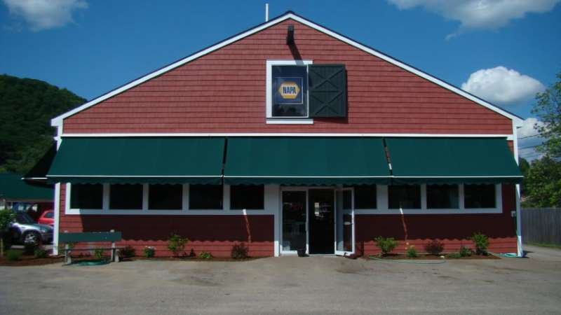 NAPA store commercial awning in bristol nh