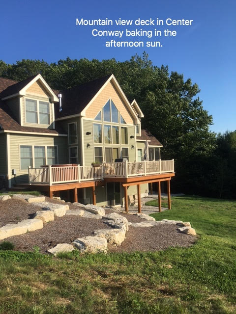 center conway NH house deck with no awning installed