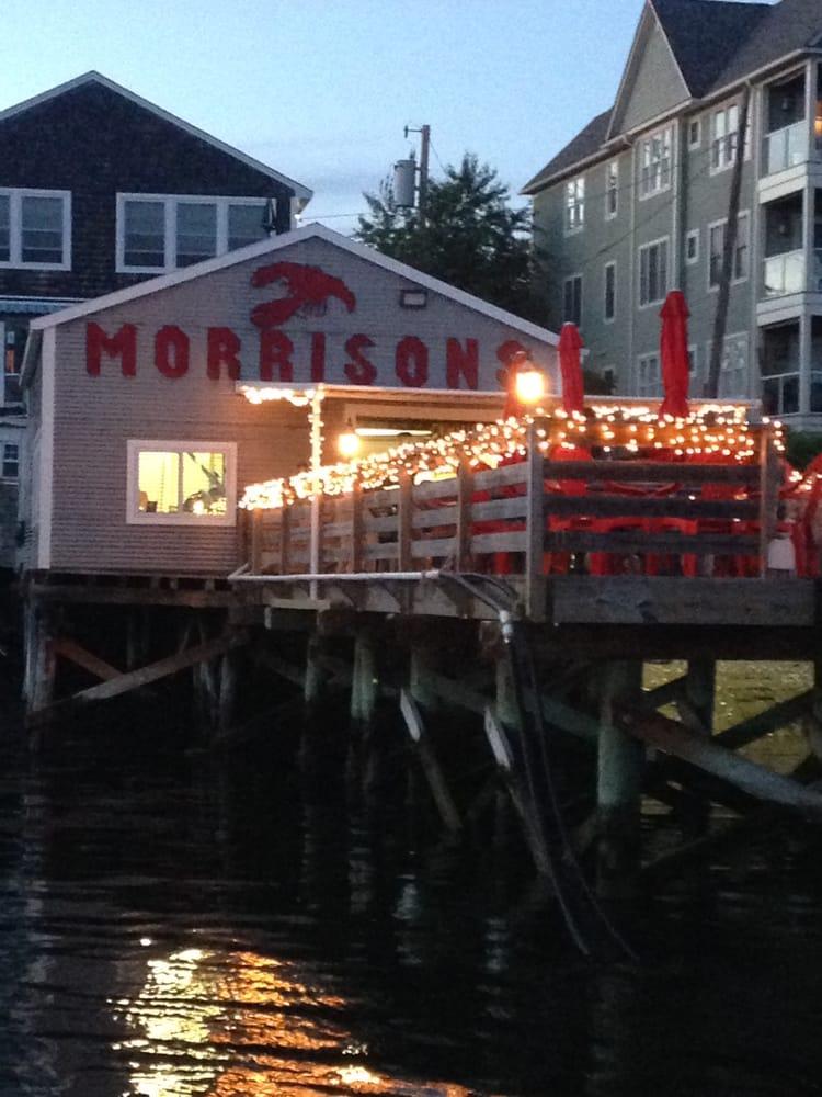 MOrrisons lobter restaurant with huge awning
