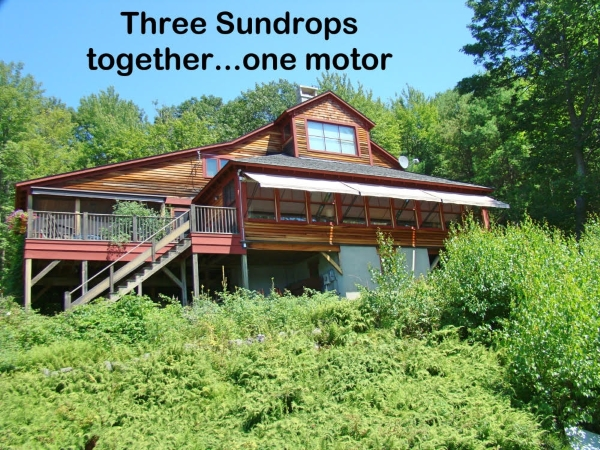 Sunesta Sundrop awning Somfy power shade system, Sandwich NH