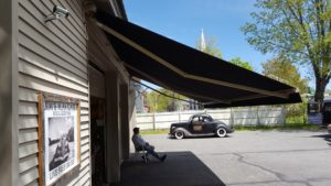 Shade under a sunesta sunstyle retractable awning