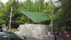 Super tall and effective shade sail