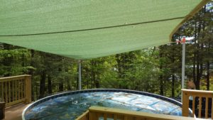 Meredith NH Sail Shades installed by Awnings New Hampshire