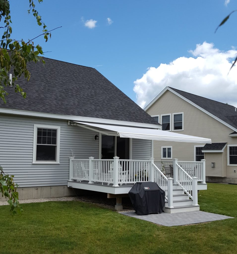 Custom color matched and sized awning in freedom, nh