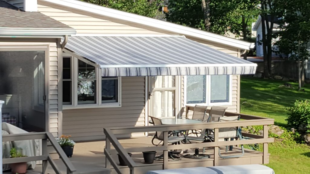 Motorized awning on a summer day in Tilton NH