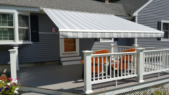 gray striped awning in Albany NH