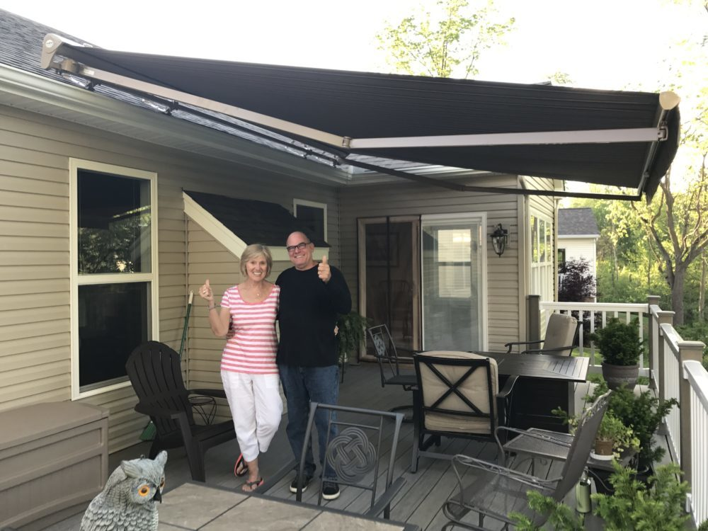 Salisbury NH motorized retractable awning