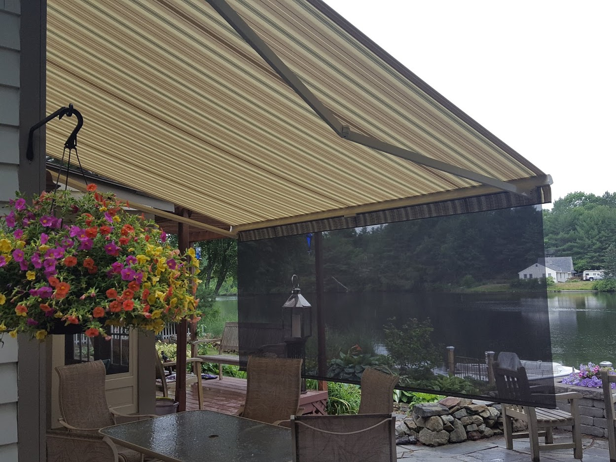 awning with drop screen in groton nh