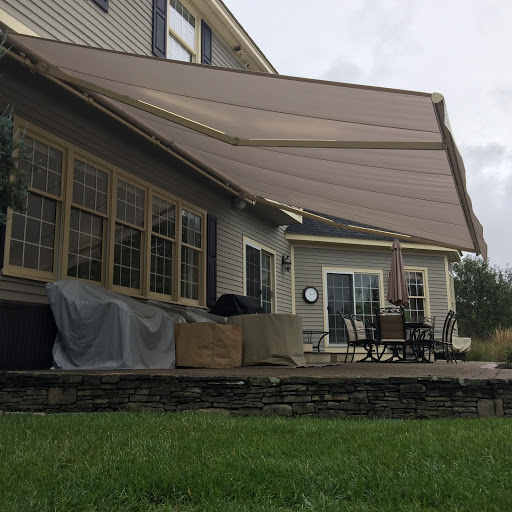 anextended retractable awning in Warren NH